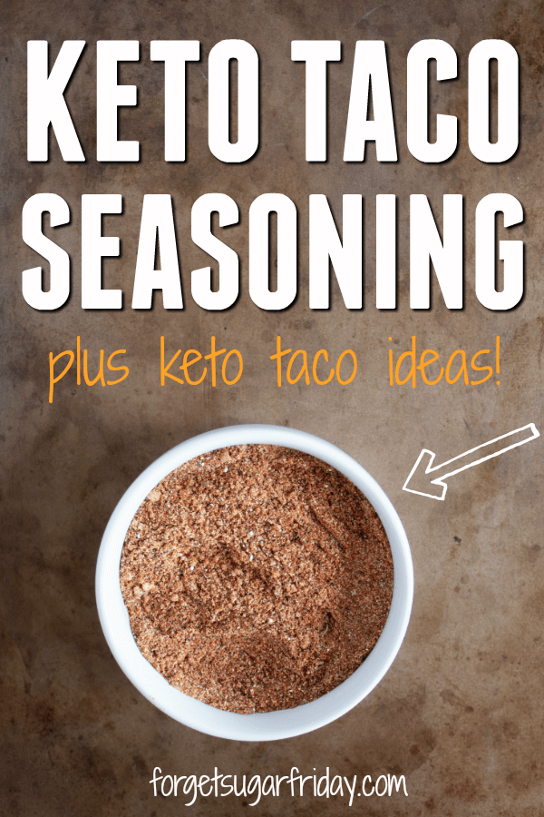 Love tacos?! Me too! That's why I made this awesome Homemade Keto Taco Seasoning recipe. Taco seasoning packets are loaded with carbs and fillers, but this easy taco seasoning recipe contains only 3g net carbs per serving (and each serving seasons an entire pound of meat!). This low carb taco seasoning is perfect for taco night even if you don't follow a keto diet. #keto #ketodiet #ketogenic