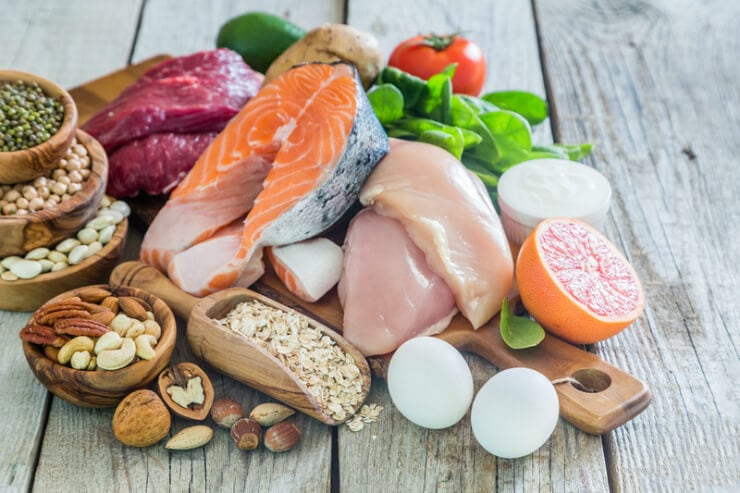 how to lose 15 pounds in a month pile of unprocessed foods including fish