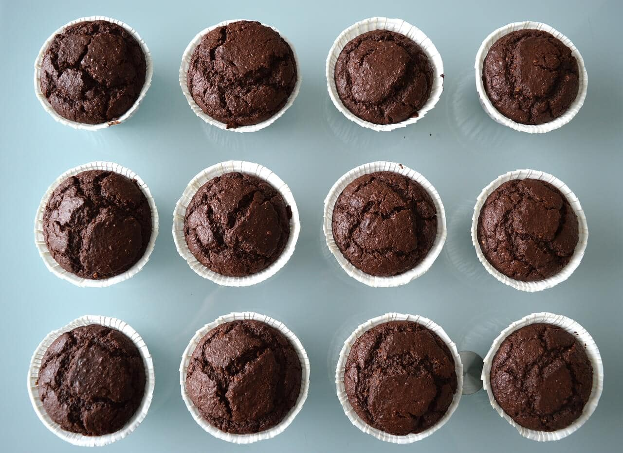 chocolate sugar free desserts in a muffin tin