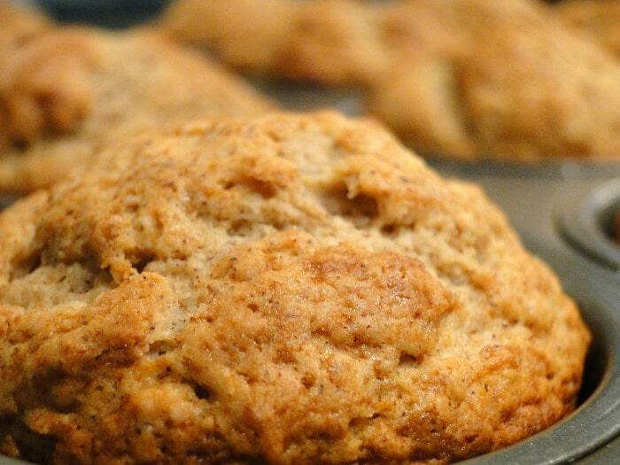 closeup of sugar free desserts muffins in muffin tin