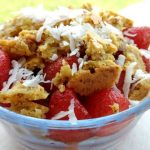 Low Carb Layered Strawberry Crisp