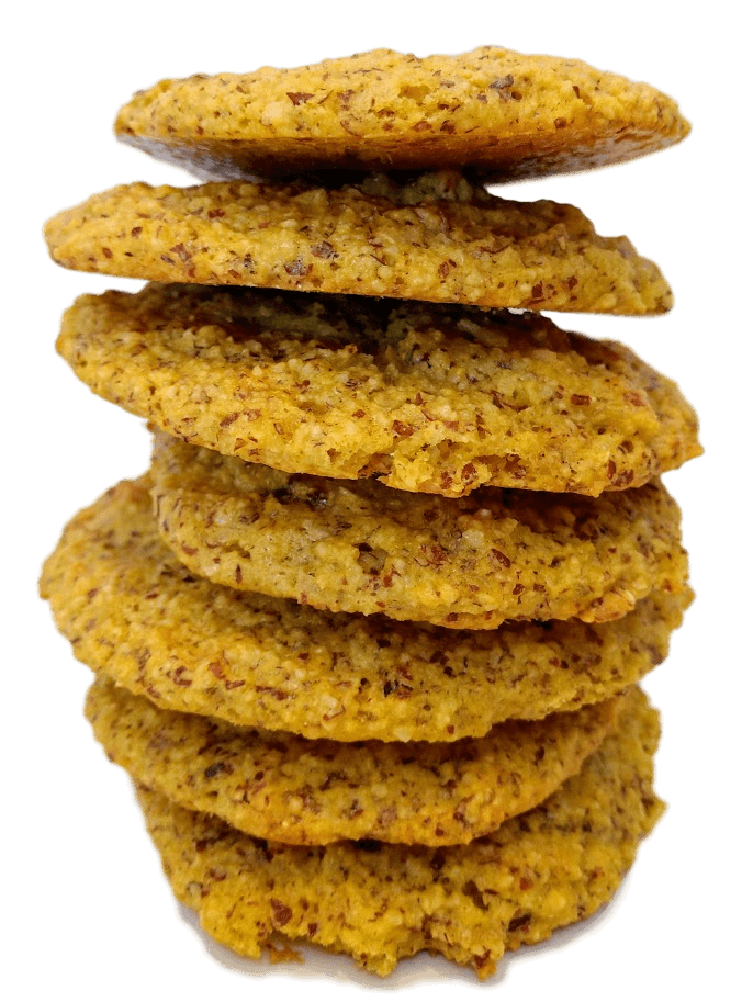 stack of my low carb cookies