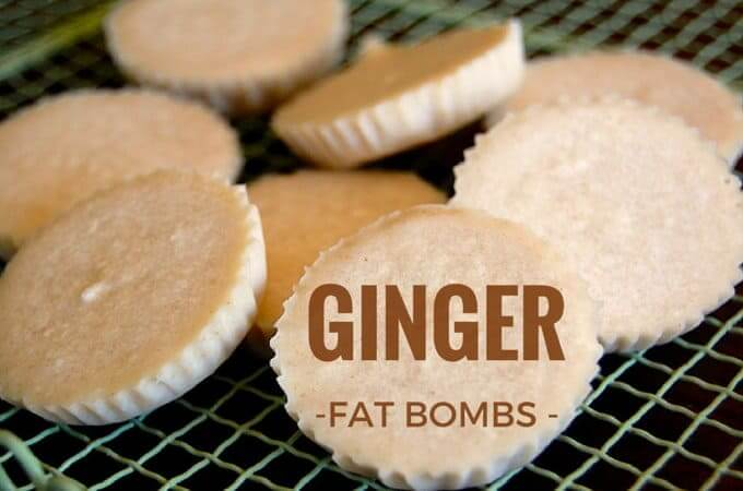 a pile of ginger keto fat bombs on a wire rack