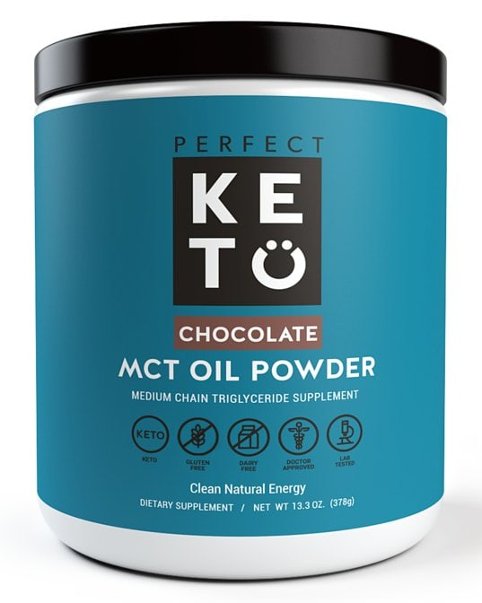 creamer to be used for keto coffee with a chocolate label