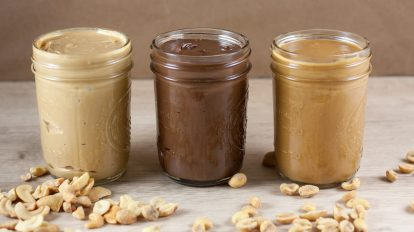 three jars in a row of keto nut butter