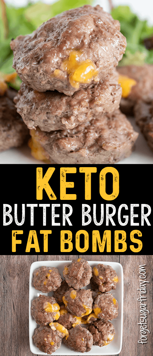 Keto Butter Burgers (Savory Fat Bomb) - Forget Sugar Friday