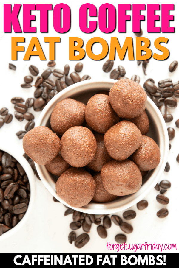 Love coffee? Then you will LOVE these Keto Coffee Chocolate Fat Bombs! They're sweet, chocolatey, and CAFFEINATED! Each keto fat bomb contains 9g fat, 1g net carbs, and is full of amazing chocolate-coffee flavor (and a little caffeine!). If you love keto coffee and keto chocolate, you're going to love these keto fat bombs! A yummy keto diet recipe. #keto #ketorecipes #ketodiet #ketocoffee #fatbombs