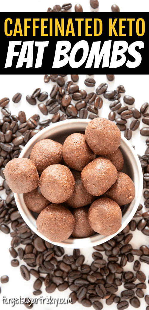 Love (keto) coffee? Then you will LOVE this Keto Coffee Chocolate Fat Bombs recipe! These keto fat bombs are sweet, chocolatey, and CAFFEINATED! With only 1g net carbs per fat bomb, you will love these tasty treats that are full of amazing chocolate-coffee flavor. If you love keto coffee and keto chocolate, you're going to love these keto fat bombs! A yummy ketogenic diet recipe. #keto #ketodiet #fatbombs #lchf