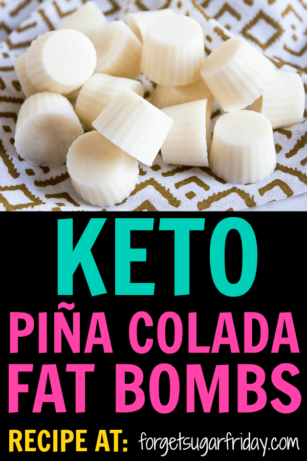 YUM! The taste of these Piña Colada Keto Fat Bombs will transport you straight to a sunny beach. With only four ingredients, this easy keto recipe will give you a boost of fat and energy, plus they'll squash your sugar cravings! If you're looking for your next favorite keto fat bomb recipe, you've found it! #keto #ketorecipes #fatbombs #ketodiet #ketogenic #lchf