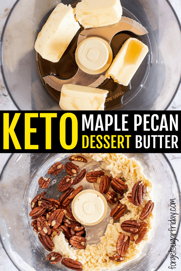 DIVINE Keto Maple Pecan Butter that's so good it's like a keto dessert! This amazingly yummy