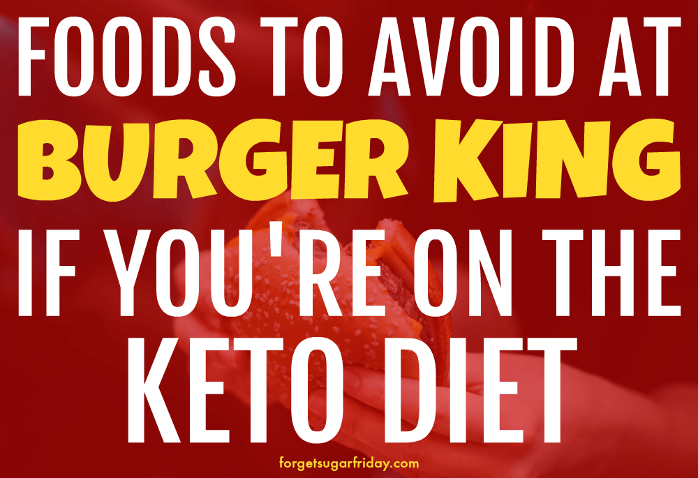 keto burger king red overlay over hand holding burger