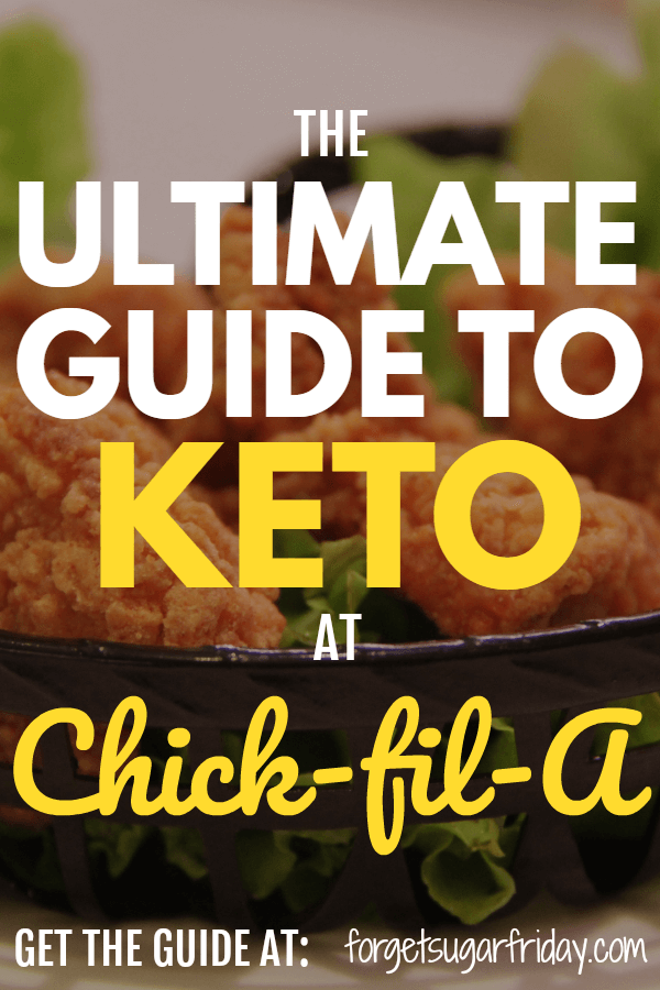 Want to eat keto at Chick-fil-A? Good news... you can -- as long as you have this Ultimate Keto Chick-fil-A Guide! In this comprehensive keto guide, I've laid out exactly what to order and what to avoid. I've included Chick-fil-A keto breakfast options, Chick-fil-A keto lunch options, and Chick-fil-A keto dinner options. If you want to eat keto fast food, you need this guide! #keto #ketodiet
