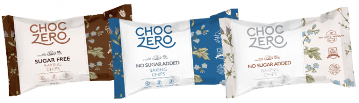 three bags of choczero chips
