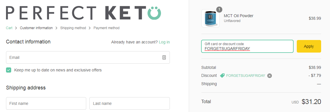 keto on a budget perfect keto coupon code order screen