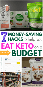 Want to eat keto on a budget? No problem! There are plenty of ways to save money while sticking to a keto diet. In this post, I'll show you seven of my favorite keto diet money-saving hacks! You will save money on keto with these budget-friendly keto tips and keto coupons. A must-read for anyone on the keto diet! #keto #ketodiet #ketogenic #ketotips #affiliate