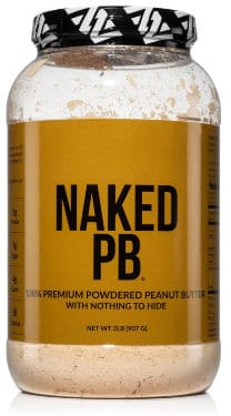 naked pb powdered peanut butter container