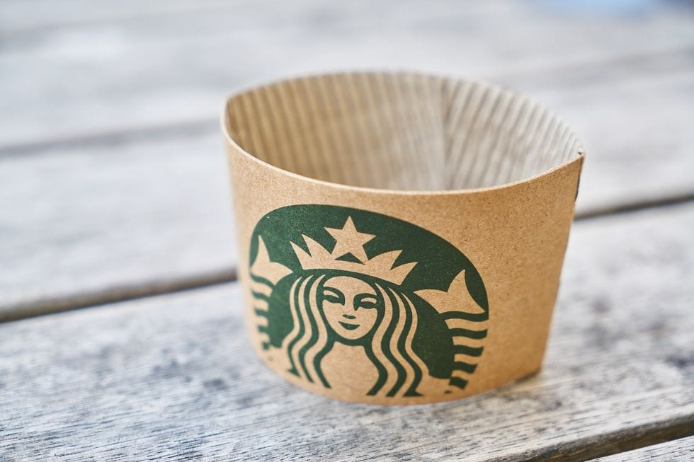 keto starbucks drink label sitting on pieces of wood