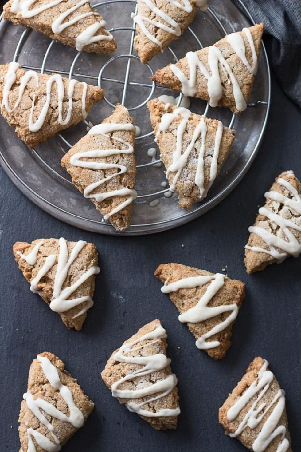 keto starbucks copycat maple scones on a black table