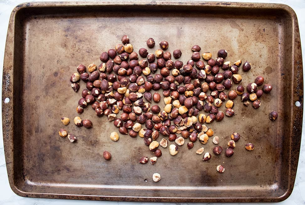 keto how to roast hazelnuts roasted hazelnuts on a baking sheet