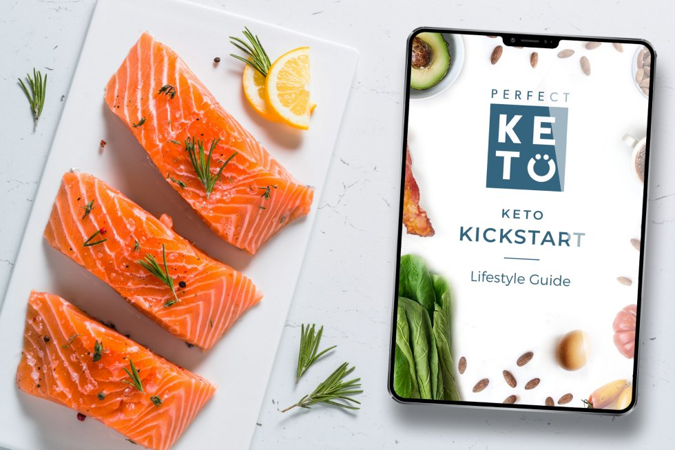 keto kickstart 30 day program next to salmon