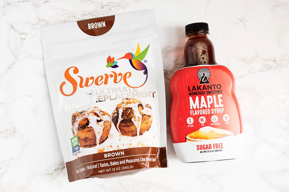 keto thrive market products with swerve brown and lakanto maple syrup