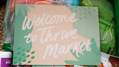 keto thrive market review inside box with welcome note on top