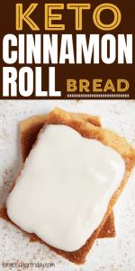 Keto Cinnamon Roll Flatbread {with Easy Icing Recipe