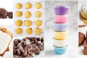 collage of keto dessert recipes photos including keto frosting and keto chocolate