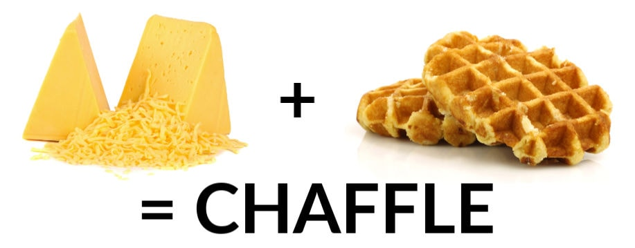 cheese plus waffle equals keto chaffle equation