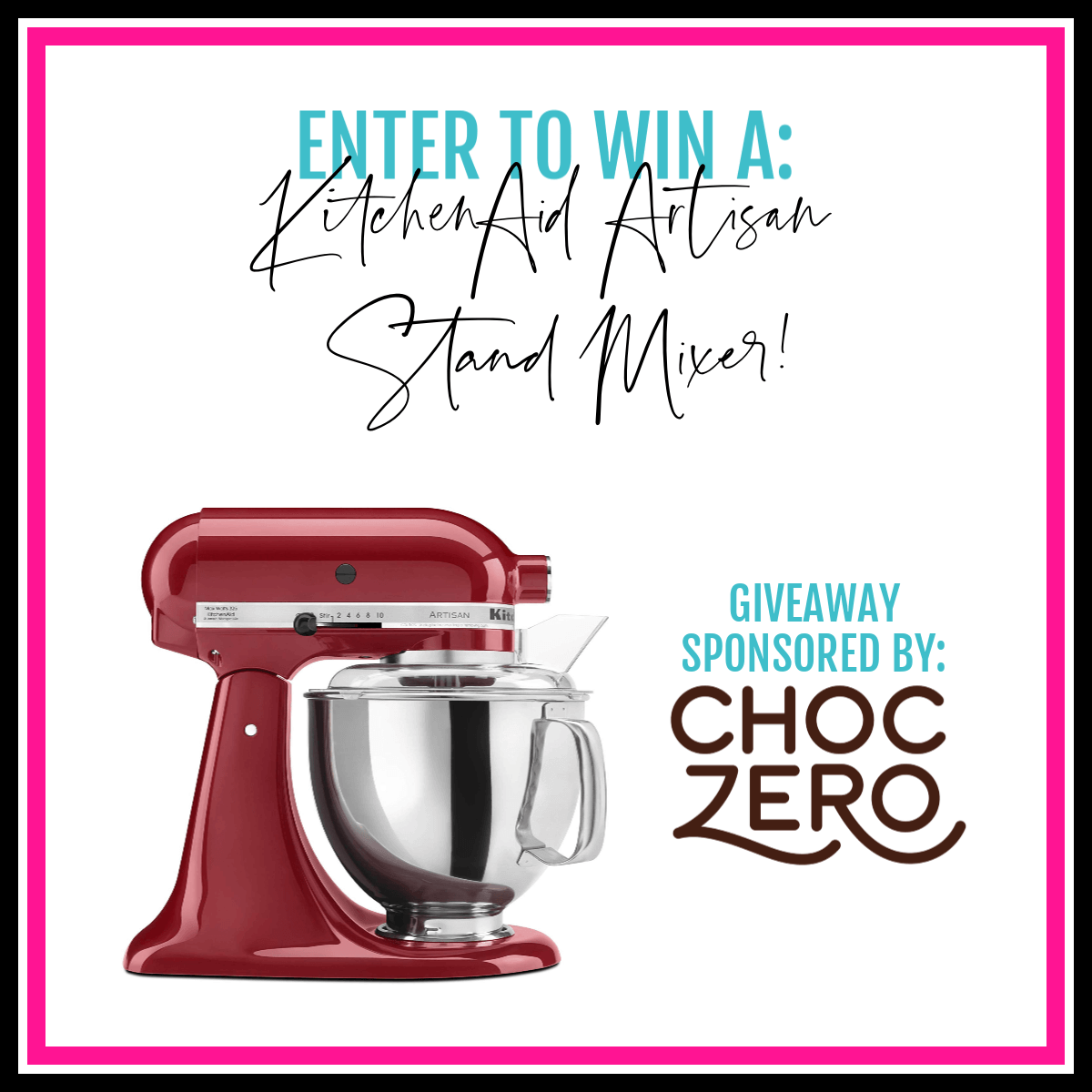 image displaying choczero giveaway with a mixer
