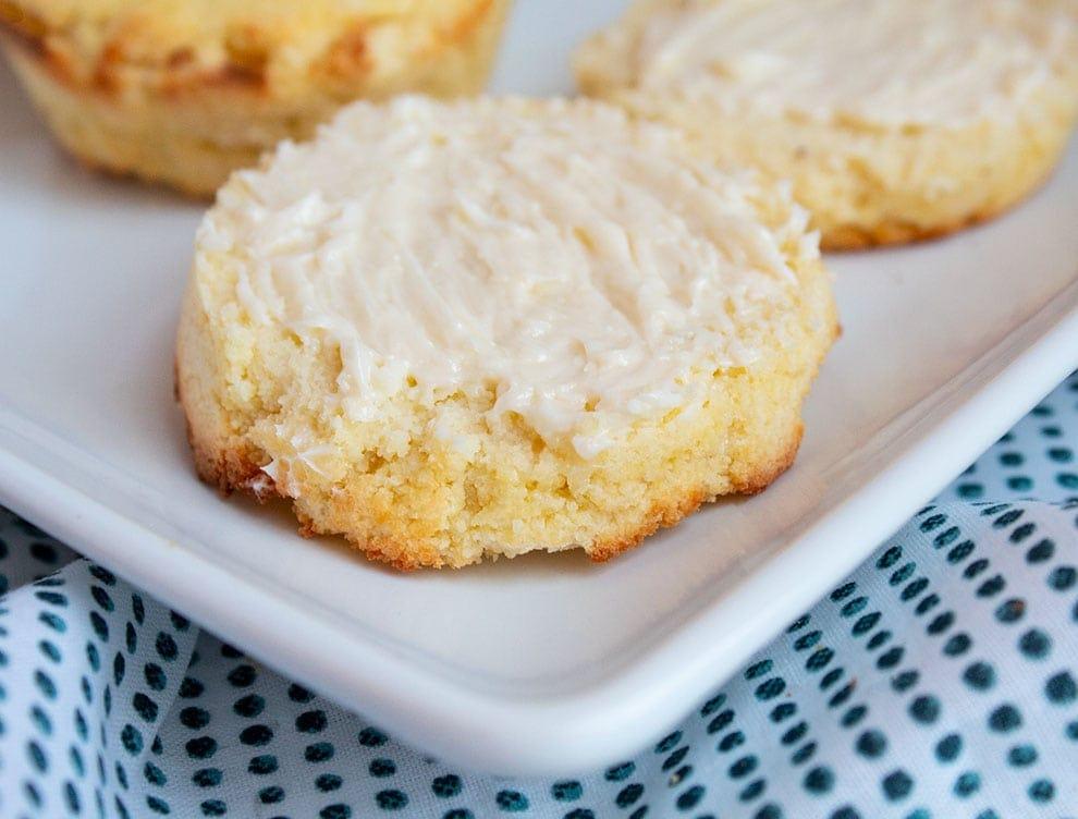 keto cornbread muffins on a dish