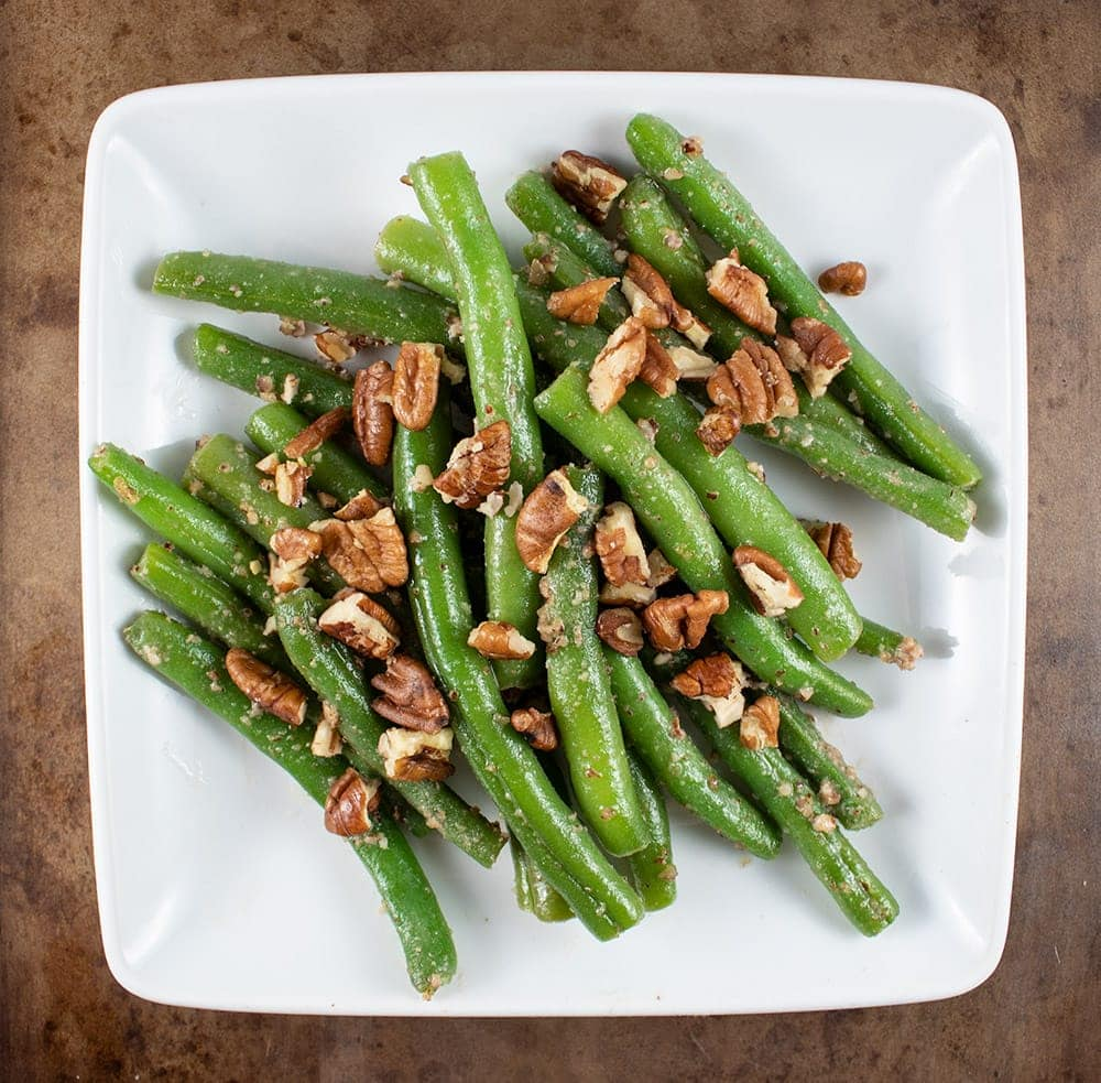 keto green beans on a dish