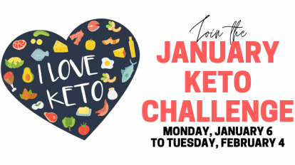 january keto challenge with an image logo