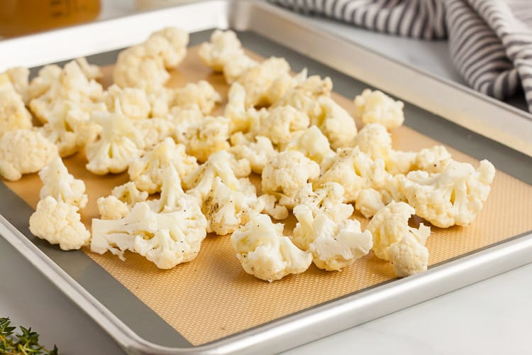 cauliflower on sheet pan