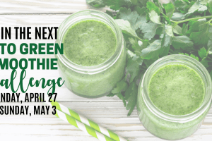 keto green smoothie challenge for april and may