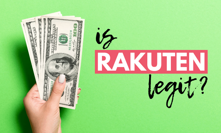 hand holding money next to is rakuten legit text