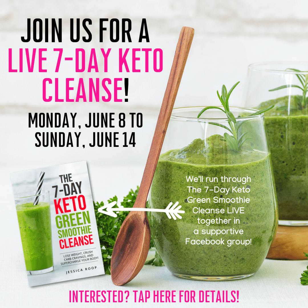 keto green smoothie challenge invite