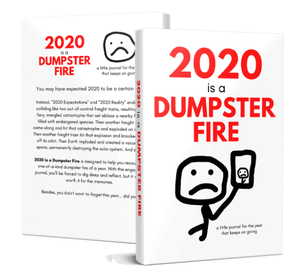 front and back cover for 2020 is a dumpster fire