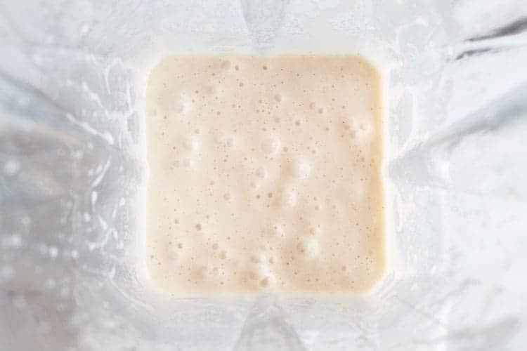 fully blended keto smoothie inside of blender